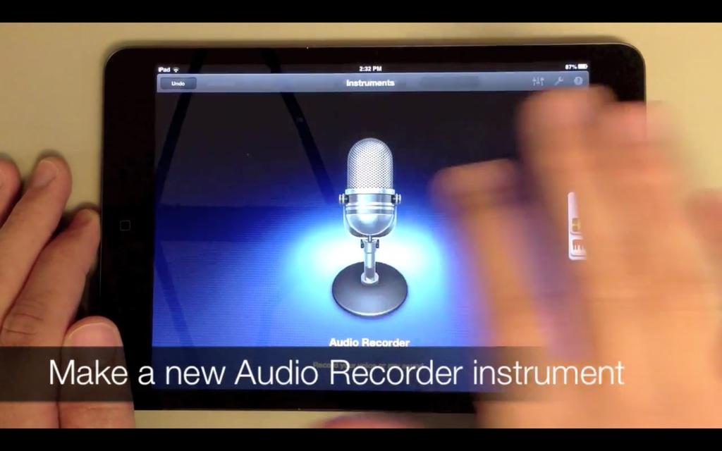 Set Up A New Audio Recorder Instrument